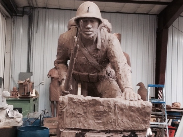 African American Soldier Statue