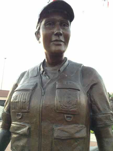 Coast Guard Soldier statue Woman Life Size