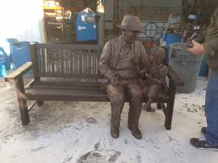 dr. Dohner Bronze Monument statue life size