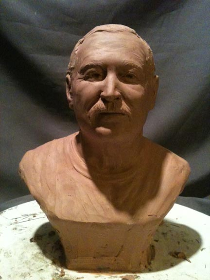 Tom Dolosky bronze bust statue 2