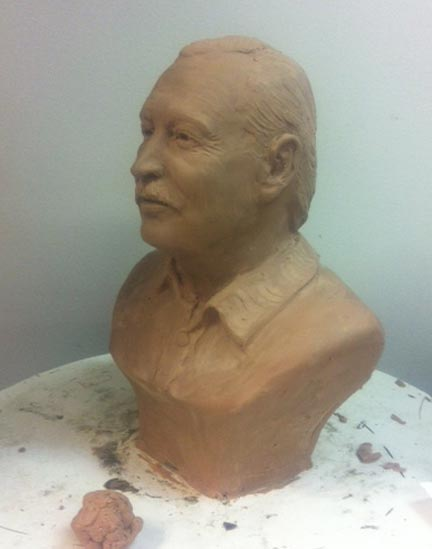 Tom Dolosky bronze bust statue 1