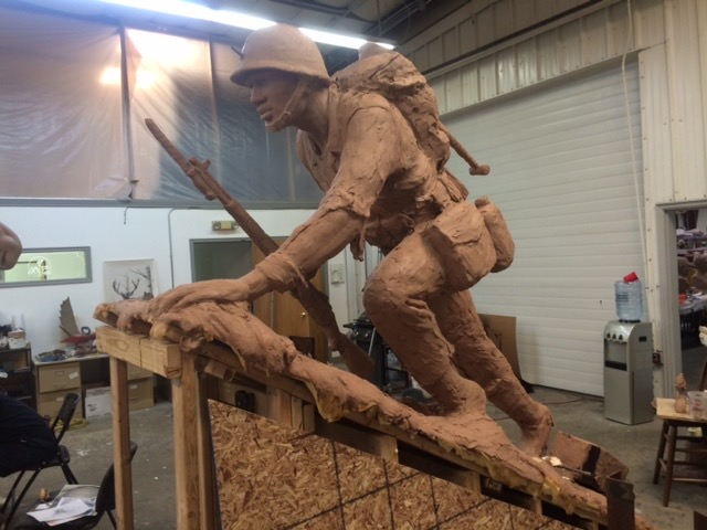 WWII African American Soldier Statue
