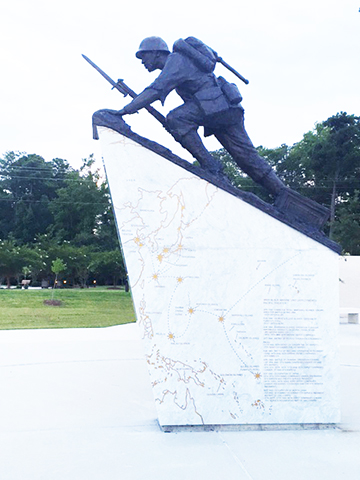 World War Two African American Marine Statue